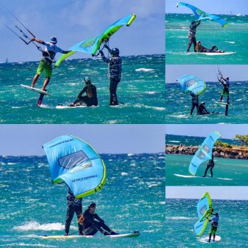 Dragonfly Wingsurfing and Foilboard Kiteboarding Session
