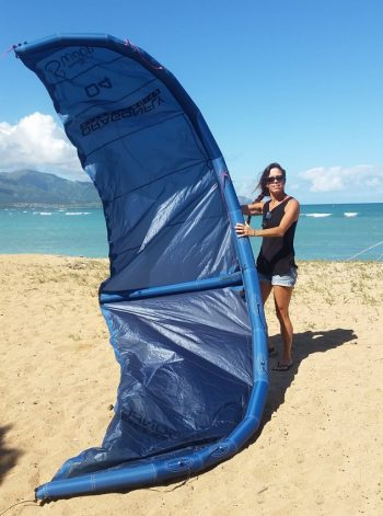Swoop Kiteboarding Kite pre-launch